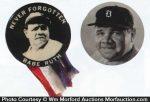 Babe Ruth Celluloid Pins