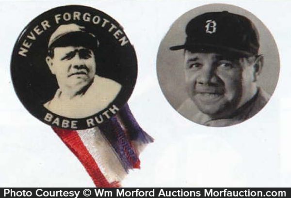 Babe Ruth Celluloid Pins