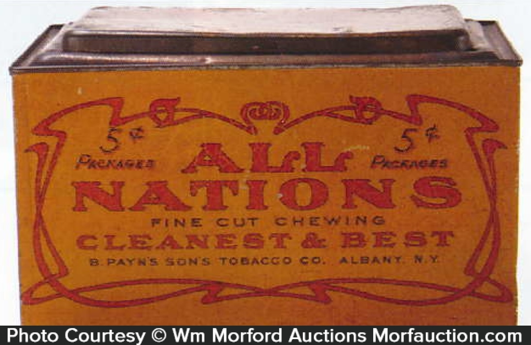 All Nations Tobacco Store Tin