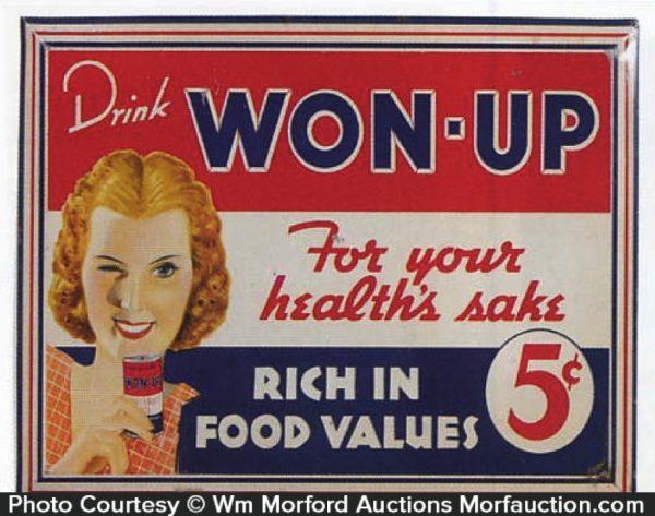 Won-Up Beverage Sign