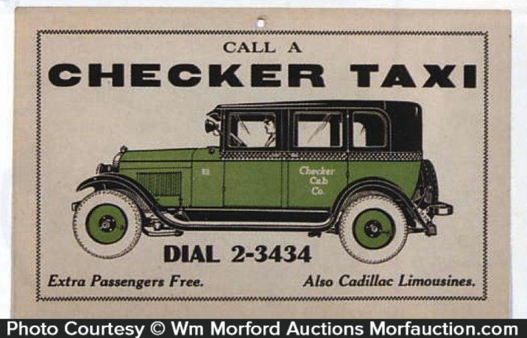 Checker Taxi Sign