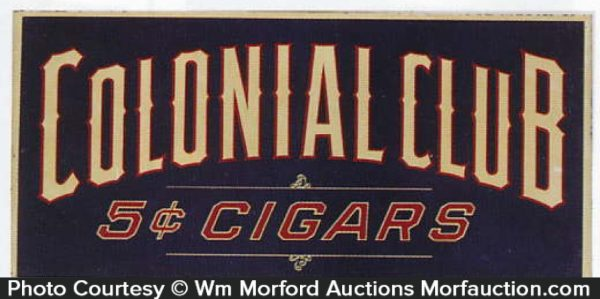 Colonial Club Cigar Sign