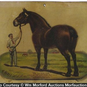 Dr. Legear's Giant Horse Sign