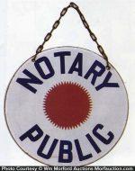 Notary Public Porcelain Sign