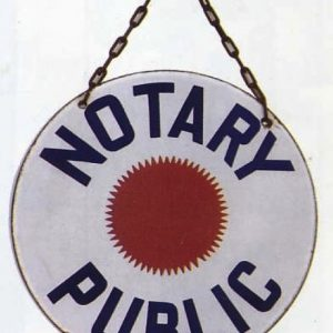 Notary Public Porcelain Sign