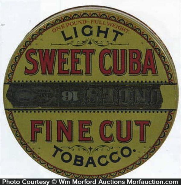 Sweet Cuba Light Tobacco Tin