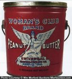 Woman's Club Peanut Butter Pail