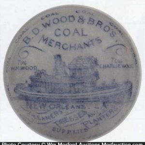 Wood & Bros. Coal Paperweight
