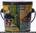 Peter Cotton Tail Candy Pail