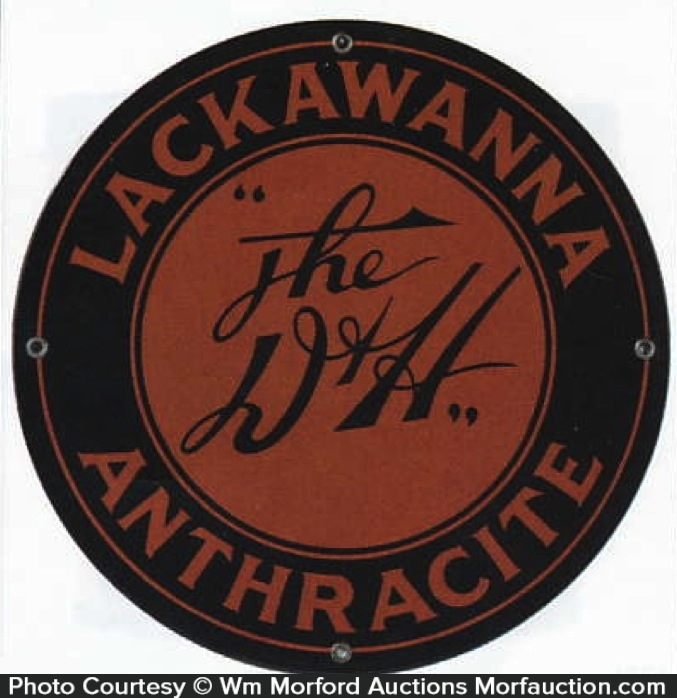 D&H Lackawanna Coal Sign