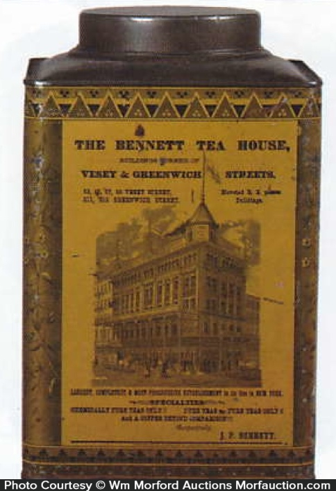 Bennett Tea House Coffee Tin