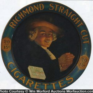Richmond Straight Cut Cigarettes Sign