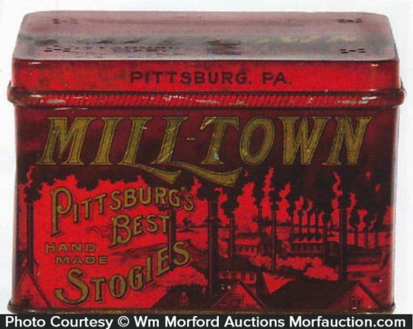 Milltown Pittsburg Stogies Tin