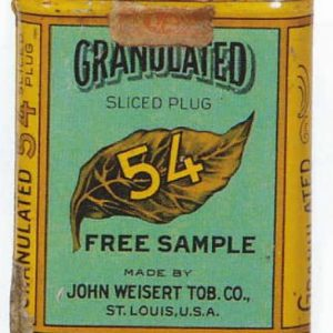 Granulated 54 Tobacco Free Sample Tin