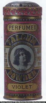 Perfumed Violet Talcum Powder Tin