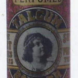 Perfumed Violet Talcum Powder Tin