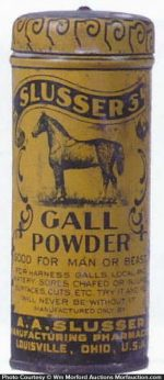 Slusser's Gall Powder Tin