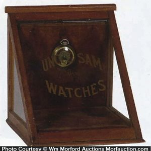 Uncle Sam Watches Display Case