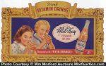 Mil-Kay Vitamin Drink Sign