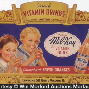 Mil-Kay Vitamin Drink Sign