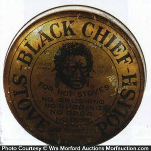Black Chief Stove Polish Tin