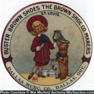 Buster Brown Shoes Pocket Mirror