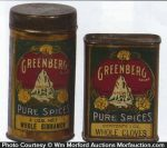 Greenberg Spice Tins