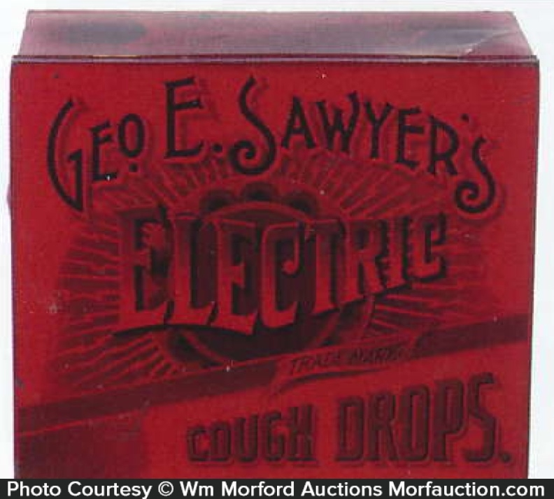 Sawyer's Electric Cough Drops Tin