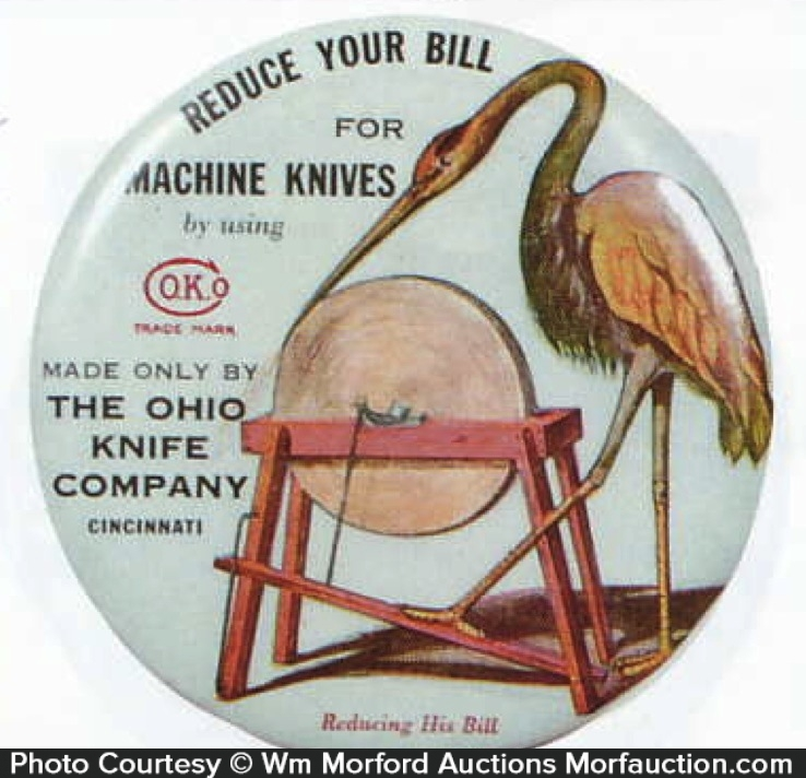 Ohio Knife Co. Paperweight Mirror