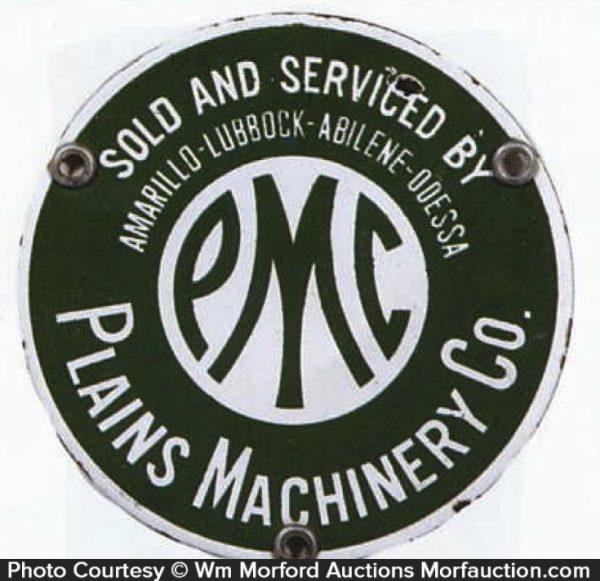 Plains Machinery Porcelain Sign