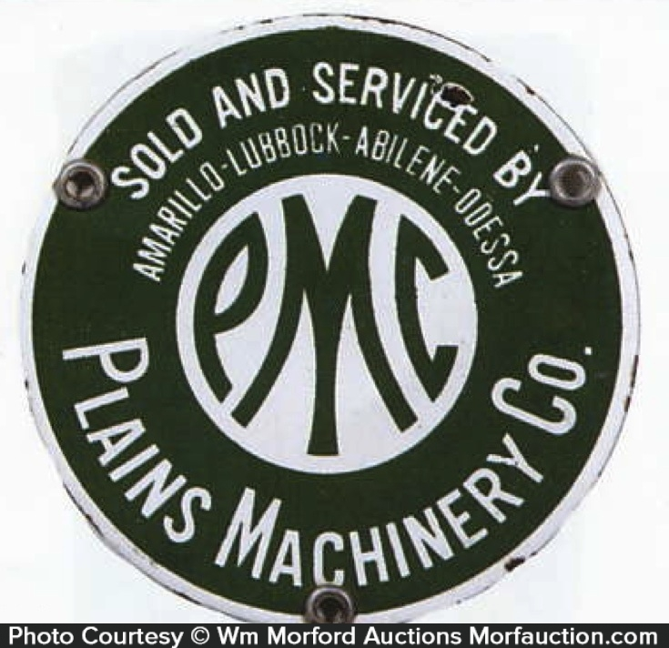 Plains Machinery Porcelain Sign