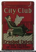 City Club Pocket Tobacco Tin