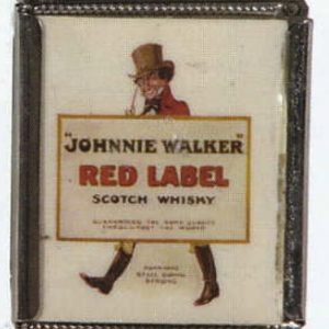 Jonnie Walker Red Label Whiskey Match Safe