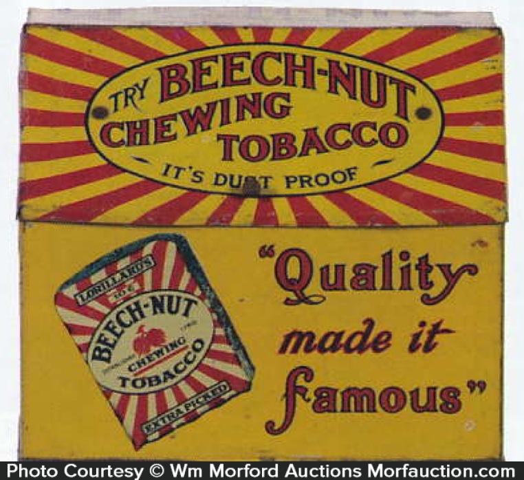Beech-Nut Chewing Tobacco Bin