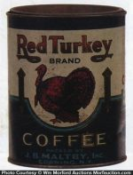 Red Turkey Coffee Can