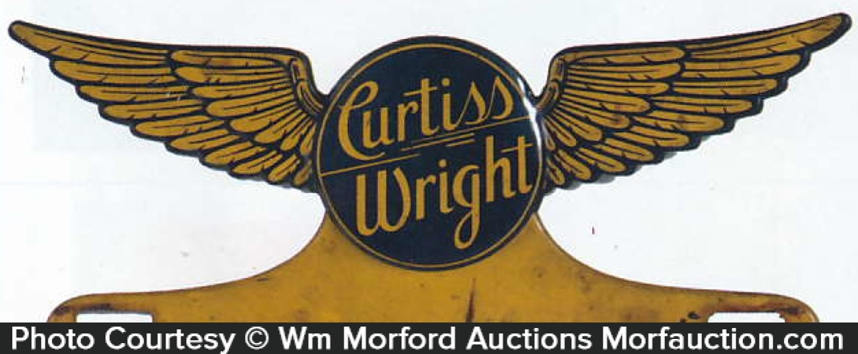 Curtiss Wright License Plate