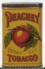 Peachy Double Cut Tobacco Tin