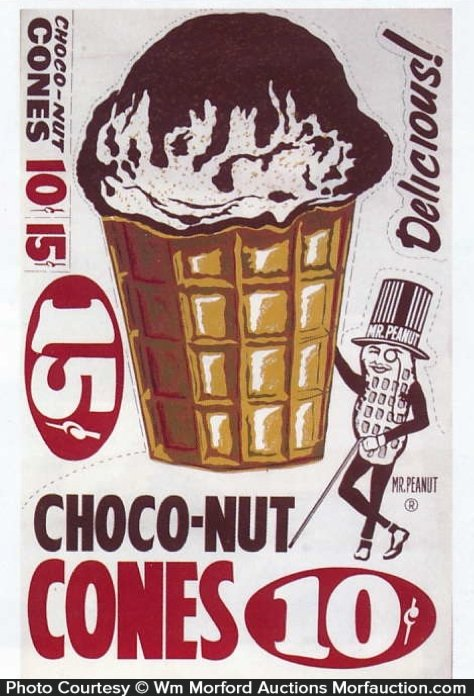 Planters Choco-Nut Cones Poster