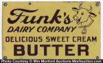 Funk's Butter Porcelain Sign