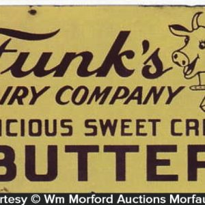 Funk's Butter Porcelain Sign
