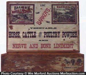 Barker's Nerve and Bone Liniment Display Box