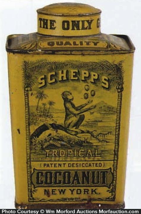 Schepp's Tropical Cocoanut Tin