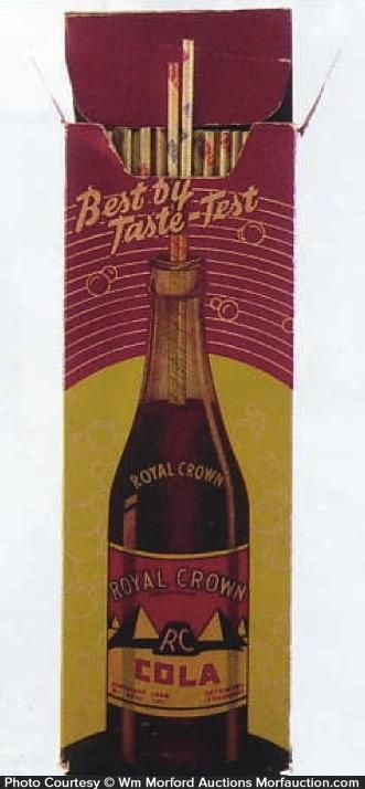 Royal Crown Cola Straws