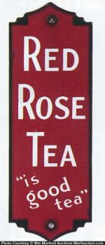 Red Rose Tea Door Push