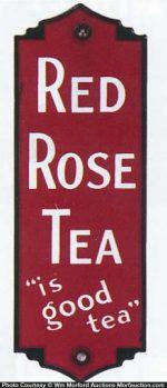Red Rose Tea Door Push