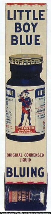 Little Boy Blue Bluing Display