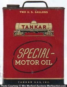 Antique Advertising Tankar Special Motor Oil Can