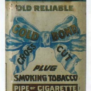 Old Reliable Gold Bond Tobacco Tin