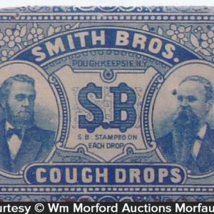 Smith Bros. Sb Cough Drops Tin