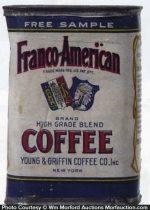 Franco-American Coffee Tin Sample
